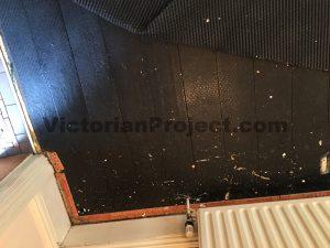 Victorian Pine Floor Boards Black Paint