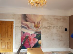 Fitting a wall mural